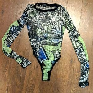 Long sleeve mesh bodysuit
